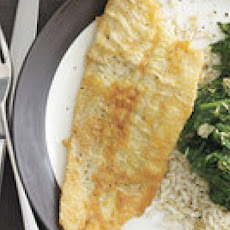 Sole with Lemon Spinach