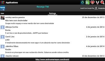 Screenshot of Brazilian applications