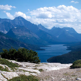 Waterton National Park by Lena Arkell - Landscapes Travel ( mountains, national park, alberta, canada, lake )