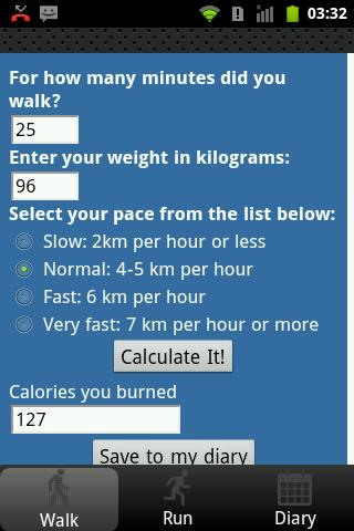 Walk and Run Diary Pro