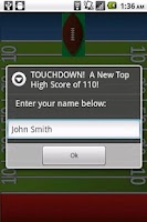 Screenshot of Football Throw