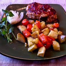 Turkey Mini-Meatloaves With Roasted Root Veggies
