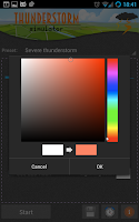 Screenshot of Lightning Storm Simulator