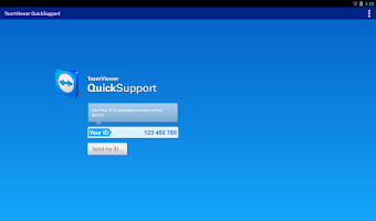Screenshot of TeamViewer QuickSupport