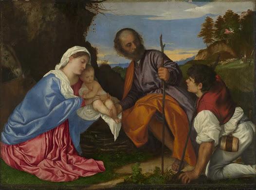 Tiziano, Sacra famiglia