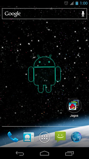 【免費個人化App】Droid in Space Live Wallpaper-APP點子