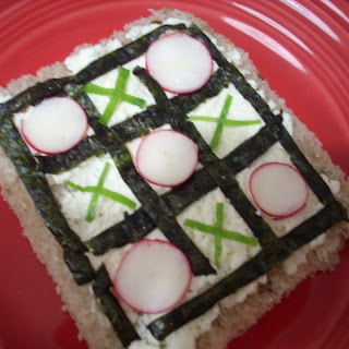 Tic Tac Toe Tartine with Red Radishes
