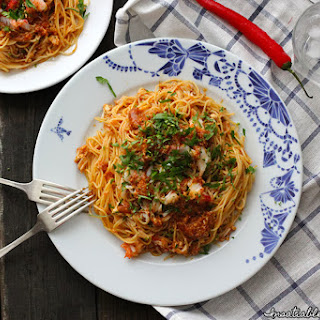Cheats' Chilli Crab Pasta