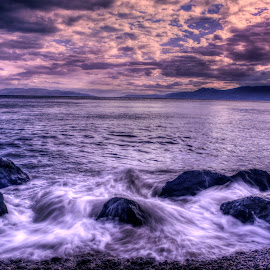 Coast in The Evening by Siniša Biljan - Landscapes Waterscapes