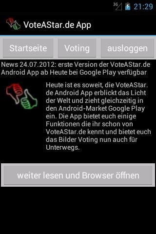 VoteAStar Foto Voting Free