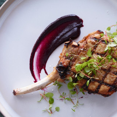 Pork Chops with Cherry Mustard
