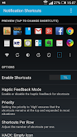 Screenshot of Notification Shortcuts