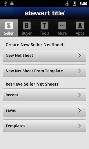 Stewart Title Net Sheet