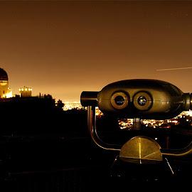 Griffith Observatory by Richard Timothy Pyo - City,  Street & Park  Night