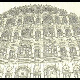 Hawamahal - A sketch by Prasanta Das - Digital Art Places ( sketch, digital )
