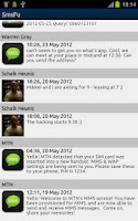 Screenshot of SmsFu SMS spam filter