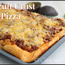 Biscuit Crust Taco Pizza