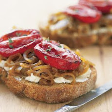 Tomato, Onion and Goat Cheese Sandwiches