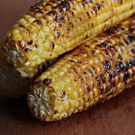 Grilled Corn... by Vrinda Mahesh - Food & Drink Cooking & Baking ( vegetables, grilled corn, corn,  )