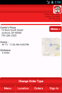 Cardo's Pizza - screenshot