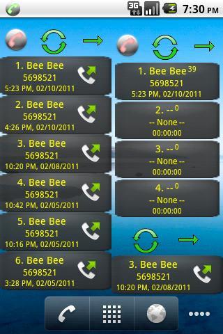 Home Screen Call Logs