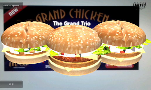 AR Burger Demo - screenshot