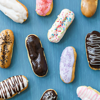 Chocolate-Glazed Eclairs with Vanilla Bean Pastry Cream Filling