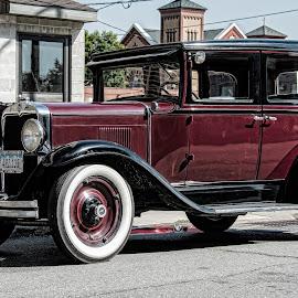 by David Vote - Transportation Automobiles ( car, vintage, automobile, maroon, antique )