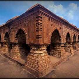 rasmancha by Debasis Banerjee - Buildings & Architecture Public & Historical ( ras mancha, temple, west bengal, hindu temple, terracotta, tourism, bricks, heritage )