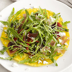 Open-Faced Omelet With Arugula Salad