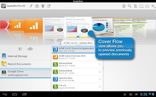 Screenshot of Quickoffice Pro HD