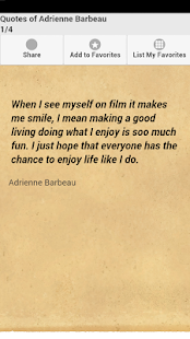 Quotes of Adrienne Barbeau - screenshot