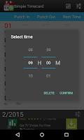 Screenshot of Simple Timecard