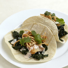 Southeast Asian Black Kale Taco (with a bit of Pork Belly)