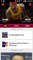 Screenshot of Cleveland Cavaliers