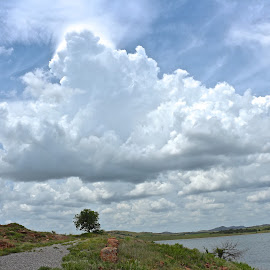 Hanging Clouds by Kathy Suttles - Landscapes Cloud Formations