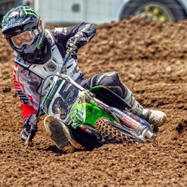 Dragging some bars by Josh Rud - Sports & Fitness Motorsports ( monster, motocross, team green, moto, get low, racing, motorcycle, off road, mx, dirt bike, kawasaki, moto x )