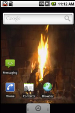 Old Fireplace Burning