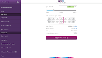 Screenshot of ZUNO Mobile Banking CZ