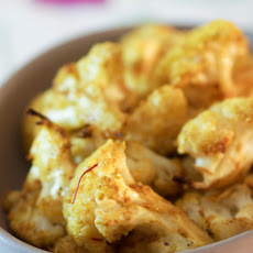 Saffron Roasted Cauliflower