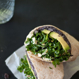Kale and Black Bean Burritos