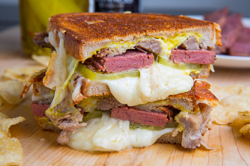 Grilled Cheese Sandwich With Charred Chili And Corn Recipe ...