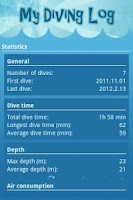 Screenshot of My Diving log