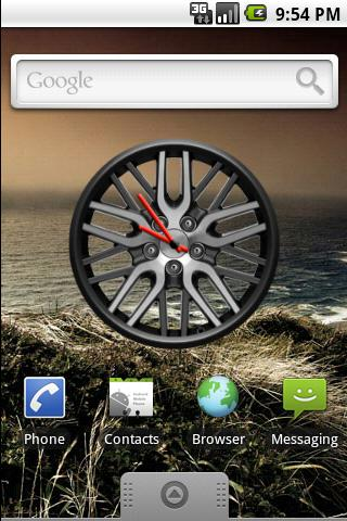 Touring Rim Clock Widget