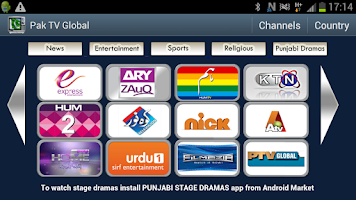 Screenshot of Pak TV Global