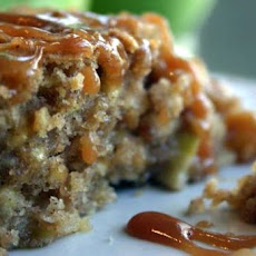 Chunky Apple Cake With Butterscotch Sauce