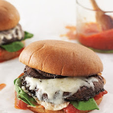 Double-Portobello Burgers with Roasted Tomatoes