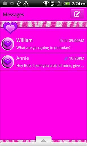 GO SMS THEME CottonCandyZebra4