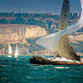 Dancing with the Wind by Maya Angelova-Miteva - Transportation Boats