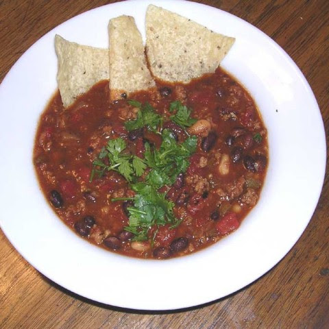 Black and White Turkey Chili